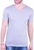 T-Shirt με V γκρι