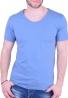 T-Shirt  με V σιέλ