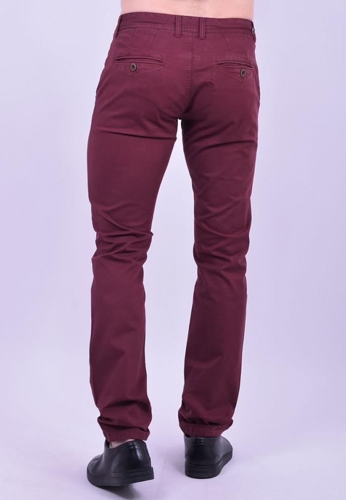 a8deff3ab53 Παντελόνι υφασμάτινο chino τσέπη μπορντό - Moda4u