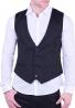 Ανδρικό γιλέκο casual μαύρο
