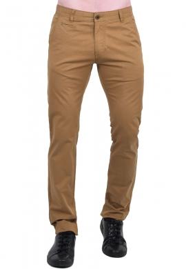 Παντελόνι υφασμάτινο Chino τσέπη κάμελ