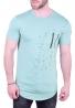 T-Shirt μακρύ με φερμουάρ στο στήθος βεραμάν