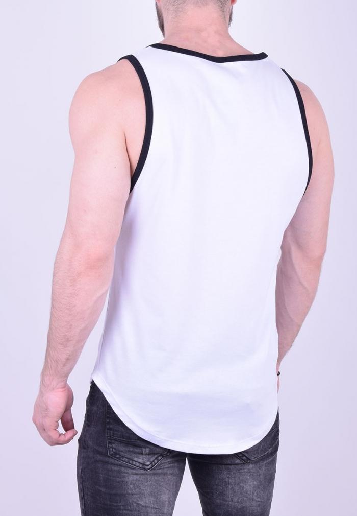 abdf6c782f14 Αμάνικο t-shirt με τύπωμα λευκό - Moda4u