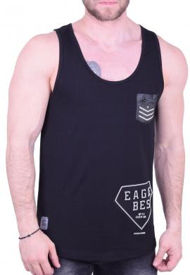 9365c250b0d8 Αμάνικο t-shirt με τύπωμα μαύρο