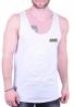 Αμάνικο t-shirt με έμβλημα λευκό