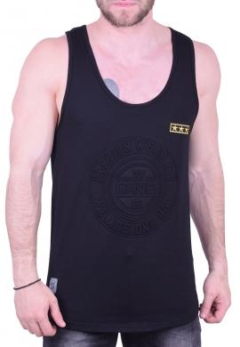 Αμάνικο t-shirt με έμβλημα μαύρο