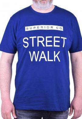 """T-shirt με στάμπα """"STREET"""" μπλε"""