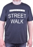"T-shirt με στάμπα ""STREET WALK""  Grey"