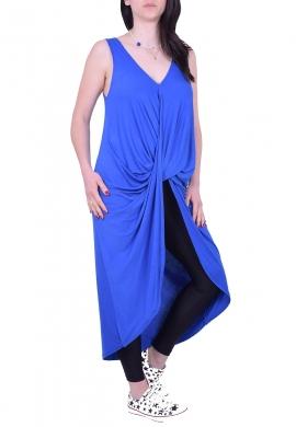 Μπλουζοφόρεμα Αμάνικο Κρουαζέ Μπλε