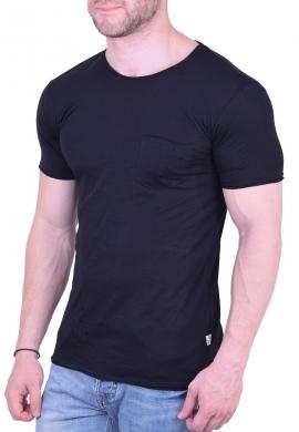 T-Shirt Με Τσεπάκι Και Τρύπες Μαύρο