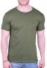 T-Shirt  με τσεπάκι  και τρύπες Χακί