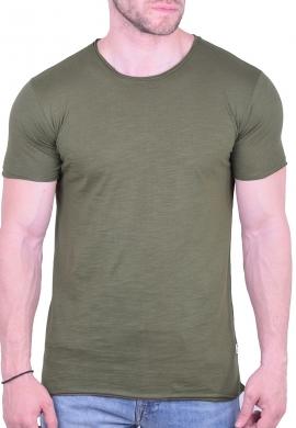 T-Shirt μονόχρωμο χακί