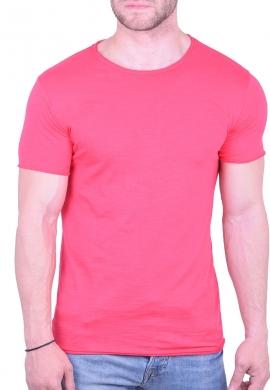 T-Shirt μονόχρωμο φούξια
