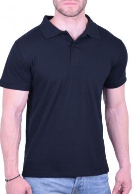 Πόλο Μπλούζα  μονόχρωμη μαύρη
