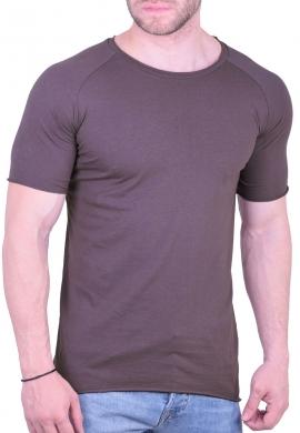 T-Shirt Μονόχρωμο γκρι