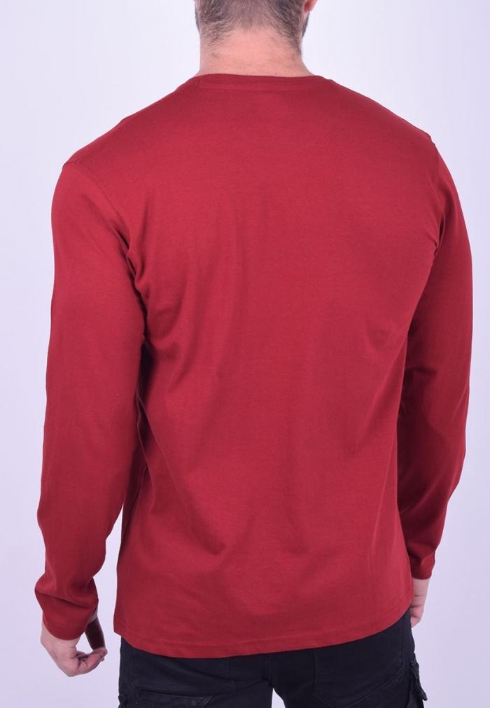 e80b86b079e6 Μπλούζα μακρυμάνικη μονόχρωμη κόκκινη  Μπλούζα μακρυμάνικη μονόχρωμη κόκκινη
